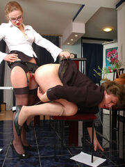 Crossdresser gets fucked by boss caption pics Julia&Monty sissified loser gets straponfucked