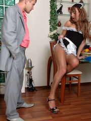 Crossdresser caught by the neighbour porn pics Gilbert&Jerry sissy sucking dick